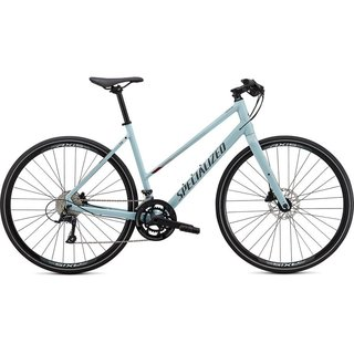 Specialized Sirrus 3.0 Step Through Gloss Summer Blue / Metallic Crimson / Black Reflective